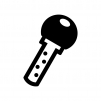 ディンプルキー・鍵の白黒シルエットイラスト02
