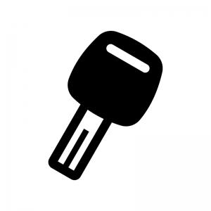イモビライザーの白黒シルエットイラスト02