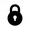鍵・錠のロックの白黒シルエットイラスト