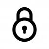鍵・錠のロックの白黒シルエットイラスト02