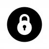 白抜きの鍵・錠のロックの白黒シルエットイラスト