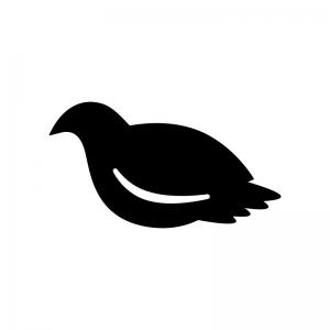 鳩・鳥の白黒シルエットイラスト