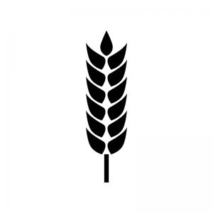 麦穂の白黒シルエットイラスト03