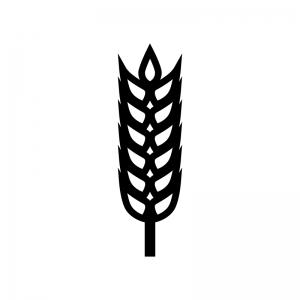 麦穂の白黒シルエットイラスト04