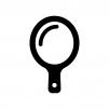 手鏡の白黒シルエットイラスト02