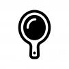手鏡の白黒シルエットイラスト03