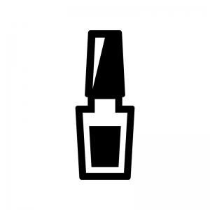 ネイルポリッシュの白黒シルエットイラスト03