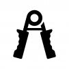 ハンドグリップの白黒シルエットイラスト03