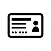 身分証・免許証の白黒シルエットイラスト03