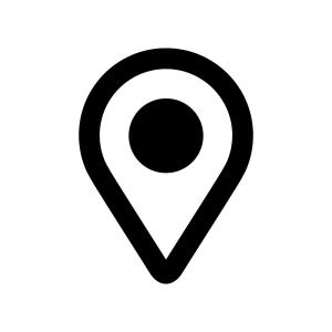 地図マーカーの白黒シルエットイラスト03