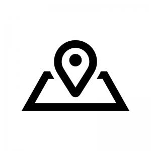 地図マーカーの白黒シルエットイラスト05