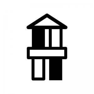 積み木の白黒シルエットイラスト02