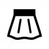 スカートの白黒シルエットイラスト02