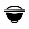 お茶碗とお箸の白黒シルエットイラスト03