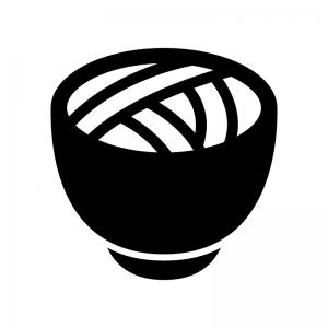 そば・うどんの白黒シルエットイラスト02