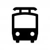 電車の白黒シルエットイラスト04