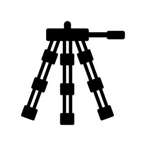 三脚の白黒シルエットイラスト02