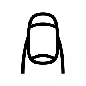爪・ネイルの白黒シルエットイラスト