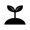 植物の芽の白黒シルエットイラスト04