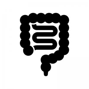 腸の白黒シルエットイラスト
