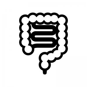 腸の白黒シルエットイラスト02