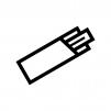 割り箸の白黒シルエットイラスト