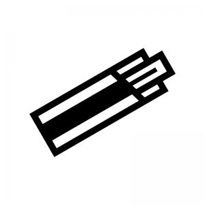 割り箸の白黒シルエットイラスト02