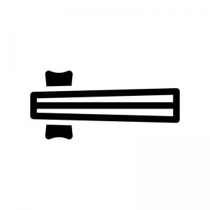 お箸の白黒シルエットイラスト