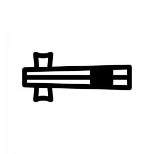 お箸の白黒シルエットイラスト02