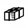 古新聞・古紙の白黒シルエットイラスト