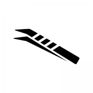 ピンセットの白黒シルエットイラスト
