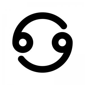 蟹座(かに座)の白黒シルエットイラスト