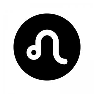 獅子座(しし座)の白黒シルエットイラスト02