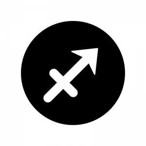 射手座(いて座)の白黒シルエットイラスト02