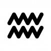 水瓶座(みずがめ座)の白黒シルエットイラスト