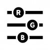RGBスライダーの白黒シルエットイラスト