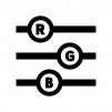 RGBスライダーの白黒シルエットイラスト02