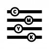 CMYKスライダーの白黒シルエットイラスト02