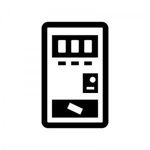 自動販売機の白黒シルエットイラスト02