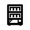自動販売機の白黒シルエットイラスト03