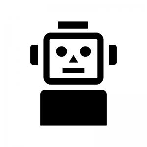 ロボットのシルエット 無料のaipng白黒シルエットイラスト