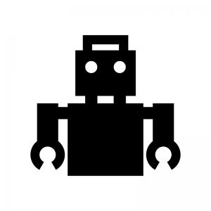 ロボットのシルエット03 無料のaipng白黒シルエットイラスト