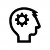 ロボット・人工知能の白黒シルエットイラスト02