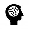 AI・人工知能の白黒シルエットイラスト03