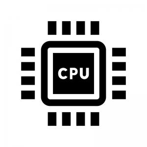 CPUの白黒シルエットイラスト02