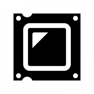 CPUの白黒シルエットイラスト03
