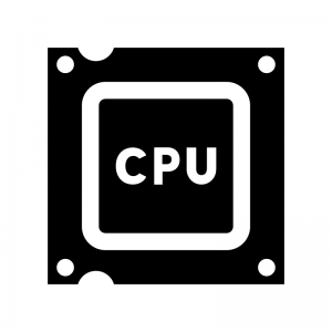CPUの白黒シルエットイラスト04