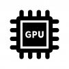 GPUの白黒シルエットイラスト02