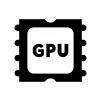 GPUの白黒シルエットイラスト03
