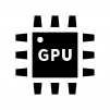 GPUの白黒シルエットイラスト04